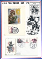 FRANCE - CARTE + ENVELOPPE 40EME ANNIVERSAIRE LIBERATION LUTTERBACH + LES FILS DES TUES AMIENS 1985 - Guerre Mondiale (Seconde)