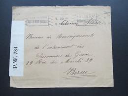 GB 1918 POW Nach Bern Schweiz / Armee Suisse Feldpoststempel Und Feed The Guns With Warbonds Opened By Censor P.W. 784 - 1902-1951 (Könige)