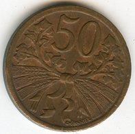 Tchécoslovaquie Czechoslovakia 50 Haleru 1947 KM 21 - Tchécoslovaquie
