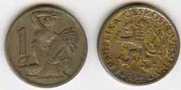 Tchécoslovaquie Czechoslovakia 1 Koruna 1922 KM 4 - Tchécoslovaquie