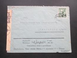 Slowakei 1941 Zensurpost Firmenumschlag An Die Porzellanfabrik Hutschenreuther OKW Zensur / Geöffnet - Cartas
