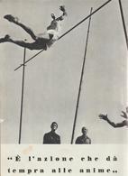 31-Fascismo-Stampa Tema: Sport:Salto Con L' Asta E Cerchi-cm.23,5 X 32,5 Da Realizzare Poster - Sport