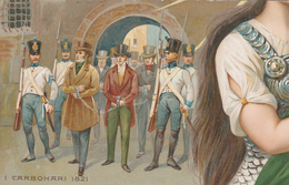 50 ANNIVERSARIO PROCLAMAZIONE REGNO D'ITALIA - 1911 - PUZZLE ITALIA RISORTA I CARBONARI - ILLUSTRATORE  COLOMBO - Manifestations