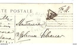 CPA  FM MILITARIA 1914 1915 VARENNES SOMME - PARIS GARE DE L'EST 30 JUIN 1915 POUR FISMES FM FRANCHISE + TAXE TRIANGLE - Guerre 1914-18