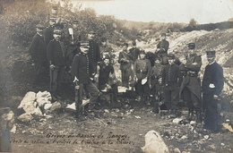 54 - Carte Photo - Grèves Du Bassin De Longwy - Poste De Police à L'entrée De L'usine De La Chiers - Longwy