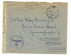 2. Wk Feldpost Brief Von 10596 NSKK-Regiment Der Luftwaffe 4 Vom 3.7.42 Nach Borgerhout Anvers Belgien - Allemagne