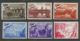 RUSSLAND RUSSIA 1947 Michel 1131 - 1136 MNH - 1923-1991 URSS
