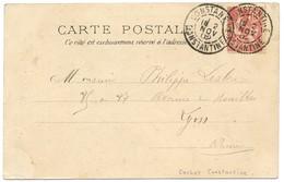 ALGERIE CP 1902 CONSTANTINE CONSTANTINE SUR 10C MOUCHON FRANCE - Marcophilie (Lettres)