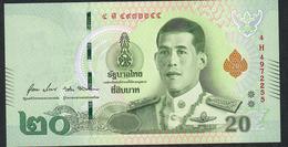 THAILAND P135c 20 BAHT #4H Signature 88  Issued 2019 UNC. - Tailandia