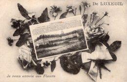 B65036 Cpa De Luxeuil Je Vous Envoie Ces Fleurs - Luxeuil Les Bains