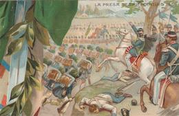 50 ANNIVERSARIO PROCLAMAZIONE REGNO D'ITALIA - 1911 - PUZZLE ITALIA RISORTA PRESA DI SAN MARTINO - ILLUSTRATORE  COLOMBO - Manifestazioni
