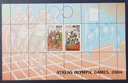 NIGERIA 2004 SHEET BLOC BLOCK - OLYMPIC GAMES ATHENS GREECE BASKET BALL BASKETBALL ATHLETICS - ULTRA RARE MNH - Nigeria (1961-...)