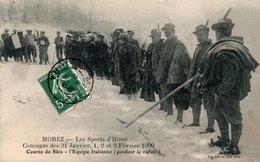 Dép. 39 - MOREZ - Circulé - Sports D' Hiver, Course De Skis, équipe Italienne- - Morez