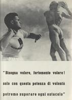 35-Fascismo-Stampa Tema: Sport:: Lancio Del Peso E Corsa Ad Ostacoli-cm.23,5 X 32,5 Da Realizzare Poster - Sport