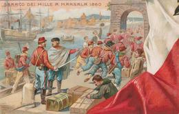 50 ANNIVERSARIO PROCLAMAZIONE REGNO D'ITALIA - 1911 - PUZZLE ITALIA RISORTA SBARCO DEI MILLE - ILLUSTRATORE  COLOMBO - Manifestazioni