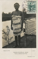 Real Photo Guinea Espanola . Koso  Semi Nude Girl . . Stamped Elobey . 1931 . Not Postally Used - Guinée Equatoriale