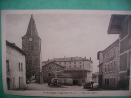 43 St Georges Lagricol Place Du Centre Cachet Colonie De Vacances Duchesse De Guise - France