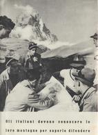 36-Fascismo-Stampa Tema: Sport::Cerchi-Militare: Alpini-cm.23,5 X 32,5 Da Realizzare Poster - Sport