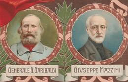 50 ANNIVERSARIO PROCLAMAZIONE REGNO D'ITALIA - 1911 - PUZZLE ITALIA RISORTA GARIBALDI E MAZZINI - ILLUSTRATORE  COLOMBO - Manifestations