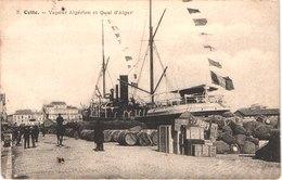FR34 SETE - CETTE - 3 - Vapeur Algérien Et Quai D'Alger - Animée - Belle - Sete (Cette)