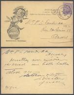 "émission 1915 - N°139 Sur Carte Imprimée ""Brouwery De Roos"" (Glabbeek) Vers Anvers / Brasserie. Illustré ! - 1915-1920 Albert I."