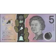 TWN - AUSTRALIA 62 - 5 Dollars 2016 Polymer - Prefix DE - Signatures: Stevens & Fraser UNC - Emissioni Governative Decimali 1966-...