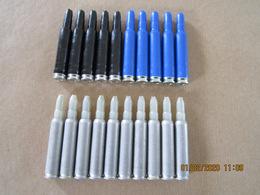 20 Cartouches à Blanc Cal 5,56 Mm En Aluminium Et Plastique - Equipement