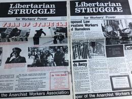5 Journaux De L' Anarchist Workers Association : Libertarian Struggle (N° 23 & 24 - 1976) & Anarchist Worker (28/29 & 33 - Revues & Journaux