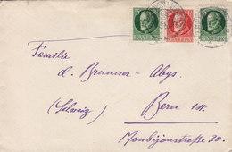 Bayern KEMPTEN Algau Cover Brief BERN Schweiz 3x König Leopold III. Stamps - Bayern