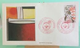 Europa CEPT Croix Rouge Et La Poste - 71 Le Creusot - 29.11.1975 -FDC 1er Jour (Tampon Sèche Au Dos) - FDC