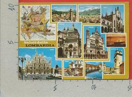 CARTOLINA VG ITALIA - Saluti Dalla LOMBARDIA - Vedutine Multivue - 10 X 15 - 1990 - Greetings From...