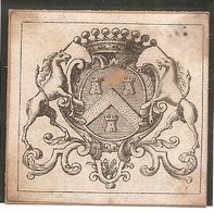 Ex-libris Héraldique Nicolas II De CORBERON (1653-1729). Bourgogne, Lorraine, Alsace, France. - Ex-Libris