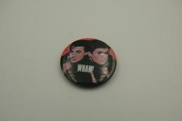 Vintage BUTTON: WHAM *** - 1 INCH - Speld - Epingle - Badge - Pinback - RaRe - ORIGINAL 1980's -pop - Pin's