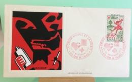Europa CEPT Croix Rouge Et La Poste - 972 Fort De France - 30.11.1975 -FDC 1er Jour (Tampon Sèche Au Dos) - FDC