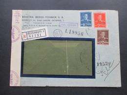 Rumänien 1943 Zensurpost Einschreiben Bucuresti 1 Mehrfachzensur Der Wehrmacht OKW Zensur Geöffnet / Geprüft - 2. Weltkrieg (Briefe)