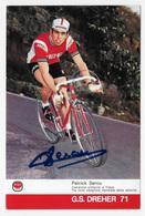 CARTE CYCLISME PATRICK SERCU  SIGNEE TEAM DREHER 1971 - Cyclisme
