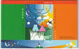 Children - Adopting A Child Ready To Mail 10 Postal Stamped Cards Unopened Package U. S. Postal Service - Children