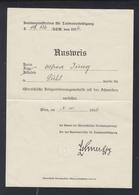 Österreich Ausweis Kriegserinnerungsmedaille 1936 - Historische Dokumente