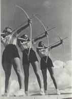 45-Fascismo-Stampa Tema: Sport::Tiro Con L' Arco E Canottaggio-cm.23,5 X 32,5 Da Realizzare Poster - Sport