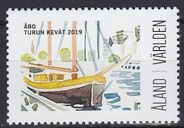 2019 ÅLAND, ÎLES ALAND Utställningsstämplar Abo Turun Kevat ** MNH Voile Bateau Yacht Bateau Dériveur Sailing Boa [ef65] - Ships