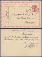 """EP Au Type 10ctm Rouge Obl Simple Cercle """"Betecom"""" (1920) Vers Antwerpen / émission 1915 - Entiers Postaux"""