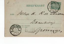 Helpman Langebalk - Groningen Grootrond - 1907 - Marcophilie
