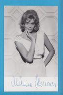 MELINA MERCOURI Original Signed Vintage Photo AUTOGRAPHE / AUTOGRAMM  9/14 Cm - Autographes