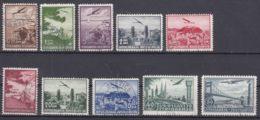 Yugoslavia Kingdom Airmail Stamps 1937 Mi#340-347 And 1940 Mi#426-427 Used - 1931-1941 Königreich Jugoslawien