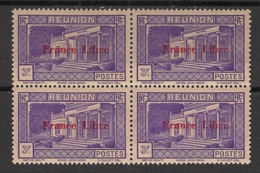 Réunion - 1943 - N°Yv. 212 - France Libre - Musée Dierx 3f - Bloc De 4 - Neuf GC ** / MNH / Postfrisch - Unused Stamps