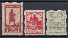 CSSR 1919 – 1920 Mi 1 – 3 Military Post In Siberia - Légion En Sibérie
