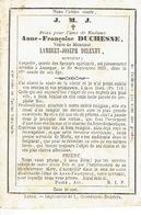 Faire-part Décès JEMEPPE/SUR-MEUSE 1772-1859 - Anne-Françoise DUCHESNE Veuve Lambert-Joseph DELEXHY - Liho. DOPTER - Obituary Notices