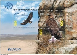 Kazakhstan  2019    Birds   Europa - CEPT  S/S  MNH - Kazakistan