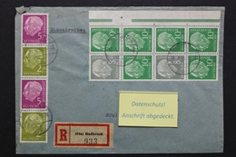 Deutschland, MiNr. S 48 + S 20 Auf R-Brief Ab Radbruch - Wolfenbüttel - Briefe U. Dokumente
