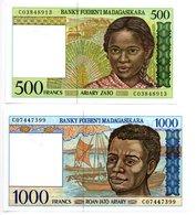Madagascar / Lot De 2 Billets  / NEUF - Madagascar
